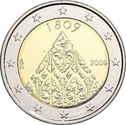 Finland 2 Euro 200 years of Finnish Autonomy 2009 Proof KM# 149 1809 FI 2009 coin obverse