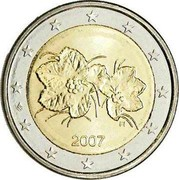 Finland 2 Euro 2nd map 2007 FI Proof KM# 130 coin obverse