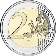 Finland 2 Euro 2nd map 2007 FI Proof KM# 130 2 EURO LL coin reverse