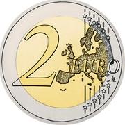 Slovenia 2 Euro 30 Years of EU Flag 2015 only unc 1 million coins 2 EURO LL coin reverse