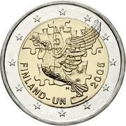 Finland 2 Euro 60th Anniversary - Finland in UN 2005 M K KM# 119 FINLAND - UN 2005 M K coin obverse