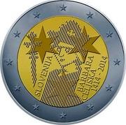 Slovenia 2 Euro Barbara of Celje 2014 KM# 117 SLOVENIJA BARBARA CELJSKA 1414 - 2014 coin obverse