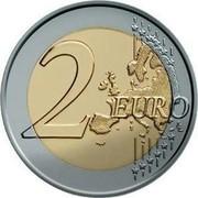 Slovenia 2 Euro Barbara of Celje 2014 KM# 117 2 EURO LL coin reverse