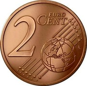 Latvia 2 Euro Cent Lesser Coat of Arms 2014 KM# 151 2 EURO CENT LL coin reverse