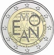 Slovenia 2 Euro Emona-Ljubljana 2015  EMONA M EMONA LJUBLJANA SLOVENIJA 2015 coin obverse