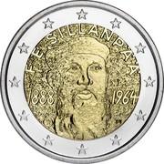 Finland 2 Euro Frans Eemil Sillanpaa 2013 Proof KM# 193 F. E. SILLANPÄÄ 2013 1888 1964 coin obverse