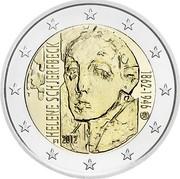 Finland 2 Euro Helene Schjerfbeck 2012 Proof KM# 182 HELENE SCHJERFBECK FI 2012 1862-1946 coin obverse