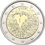 Finland 2 Euro Human rights 2008 Proof KM# 143 2008 HUMAN RIGHTS FI K coin obverse
