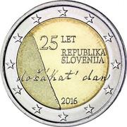 Slovenia 2 Euro Independence 2016  25 LET REPUBLIKA SLOVENIJA DOČAKAT DAN 2016 coin obverse