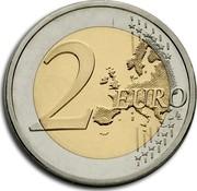 Finland 2 Euro Jean Sibelius 2015 KM# 233 2 EURO LL coin reverse