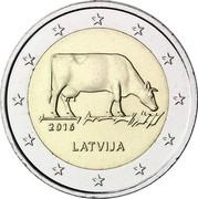 Latvia 2 Euro Latvian agriculture 2016 KM# 175 2016 LATVIJA coin obverse