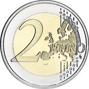 Slovenia 2 Euro Ljubljana Botanical Garden 2010 Proof KM# 94 2 EURO LL coin reverse