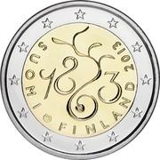 Finland 2 Euro Parliament 2013 Proof KM# 190 SUOMI FINLAND 2013 1863 coin obverse