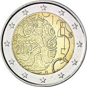 Finland 2 Euro Rahapaja - Markka 2010 Proof KM# 154 2010 FI coin obverse