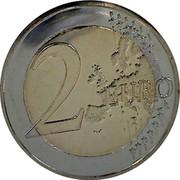 Slovenia 2 Euro Shivé naj vsi naródi 2015 Proof KM# 75 2 EURO LL coin reverse