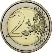 Latvia 2 Euro The Latvian Maiden 2015 Proof KM# 157 2 EURO LL coin reverse