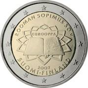 Finland 2 Euro Treaty of Rome 2007 Proof KM# 138 ROOMAN SOPIMUS 50 V EUROOPPA 2007 SUOMI FINLAND coin obverse