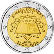 Slovenia 2 Euro Treaty of Rome 2007 KM# 106 RIMSKA POGODBA 50 LET EVROPA 2007 SLOVENIJA coin obverse