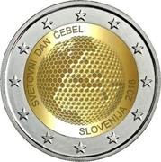 Slovenia 2 Euro World Bee Day 2018 750 Proof sets / 2000 Proof capsule SVETOVNI DAN ČEBEL SLOVENIJA 2018 coin obverse