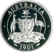 Australia 2 Florin Edward VII 1901 AUSTRALIA ADVANCE AUSTRALIA 1901 coin reverse