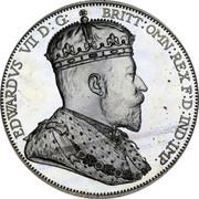 Australia 2 Florin Edward VII Pattern 1901 Proof EDWARDS VII D: G: BRITT: OMN: REX F:DIND:IMP coin obverse