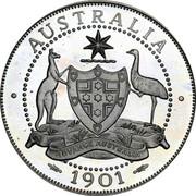 Australia 2 Florin Edward VII Pattern 1901 Proof AUSTRALIA 1901 coin reverse