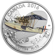 Canada 20 Dollars Curtiss H 12 2016 Proof CANADA 2016 DO CURTISS H-12 coin reverse