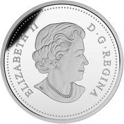 Canada 20 Dollars Radiant Rainbow 2016 Proof KM# 2163 ELIZABETH II D ∙ G ∙ REGINA coin obverse