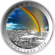 Canada 20 Dollars Radiant Rainbow 2016 Proof KM# 2163 CANADA TB 20 DOLLARS 2016 coin reverse