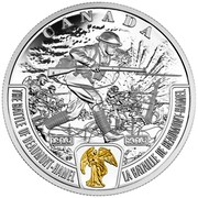 Canada 20 Dollars The Battle of Beaumont Hamel 2016 Proof CANADA 1916 2016 THE BATTLE OF BEAUMONT-HAMEL LA BATAILLE DE BEAUMONT-HAMEL coin reverse