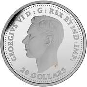 Canada 20 Dollars The Battle of Hong Kong 2016 Proof GEORGIVS VI D: G: REGINA REX ET IND: IMP: 20 DOLLARS coin obverse