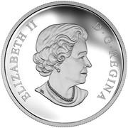 Canada 20 Dollars The Universe 2016 Proof ELIZABETH II D ∙ G ∙ REGINA coin obverse