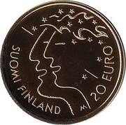 Finland 20 Euro Athletics World Championships in Helsinki 2005 M-M Proof KM# 121 SUOMI FINLAND M 20 EURO coin reverse