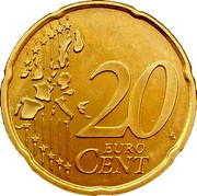 Finland 20 Euro Cent 1st map 2002 M Proof KM# 102 20 EURO CENT LL coin reverse