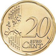 Finland 20 Euro Cent 2nd map 2007 FI Proof KM# 127 20 EURO CENT LL coin reverse