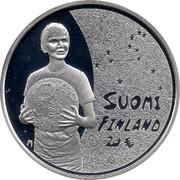 Finland 20 Euro Children's creativity 2010 M KM# 153 M SUOMI FINLAND 20 € coin obverse