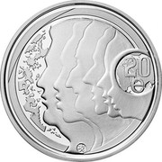 Finland 20 Euro Equality and Tolerance 2012 P Proof KM# 189 20 € coin reverse