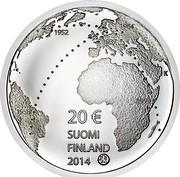 Finland 20 Euro Ilmari Tapiovaara 2014 Proof KM# 220 20 € SUOMI FINLAND 2014 coin obverse