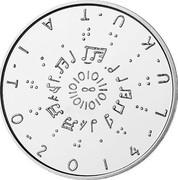 Finland 20 Euro Literacy 2014 Proof KM# 216 LUKUTAITO 2014 coin obverse