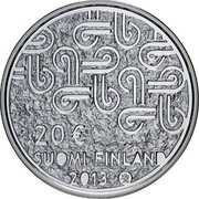 Finland 20 Euro Multiculturalism 2013 Proof KM# 204 20 € SUOMI FINLAND 2013 coin obverse