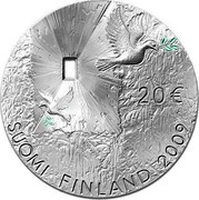 Finland 20 Euro Peace and Security 2009 K KM# 172 20 € SUOMI FINLAND 2009 coin obverse