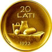 Latvia 20 Latu Coin of Latvia 2008 KM# 96 20 LATI 1922 coin reverse