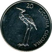 Slovenia 20 Tolarjev 2006 KM# 51 Standart Coinage CICONIA CICONIA coin reverse