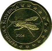Slovenia 20¢ (Trial) X# Pn5 REPUBLIKA SLOVENIJA 2004 coin obverse