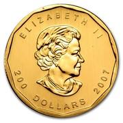 Canada 200 Dollars Maple Leaf 2007 ELIZABETH II 200 DOLLARS 2007 SB coin obverse