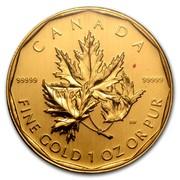 Canada 200 Dollars Maple Leaf 2007 CANADA 99999 99999 FINE GOLD 1 OZ OR PUR SW coin reverse
