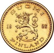 Finland 200 Markkaa 1926 S KM# 29 Decimal Coinage SUOMI 19 26 S FINLAND coin obverse