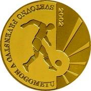 Slovenia 20000 Tolarjev FIFA World Cup 2002 2002 Proof KM# 47 2002 SVETOVNO PRVENSTVO V NOGOMETU coin reverse