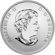 Canada 25 Cents Harlequin Duck 2014 Specimen KM# A1630 ELIZABETH II D∙G∙REGINA coin obverse