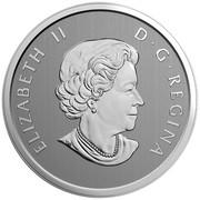 Canada 25 Cents Love My Cat 2017 Specimen ELIZABETH II D∙G∙REGINA coin obverse